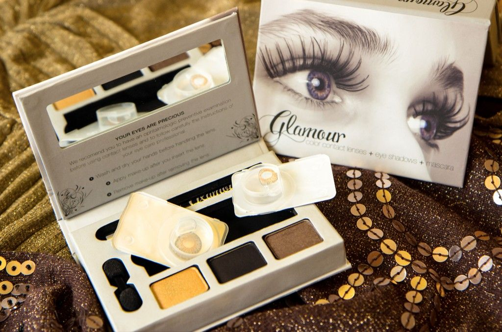 Die Glamour-Box mit den Farblinsen In Hazel #beauty #makeup #contacts