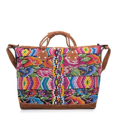 Look at this #zulilyfind! Bright Flowers Weekender by Yuka Paris #zulilyfinds