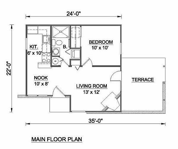 484 square feet, 1 bedrooms, 1 batrooms, on 1 levels, Floor Plan ...