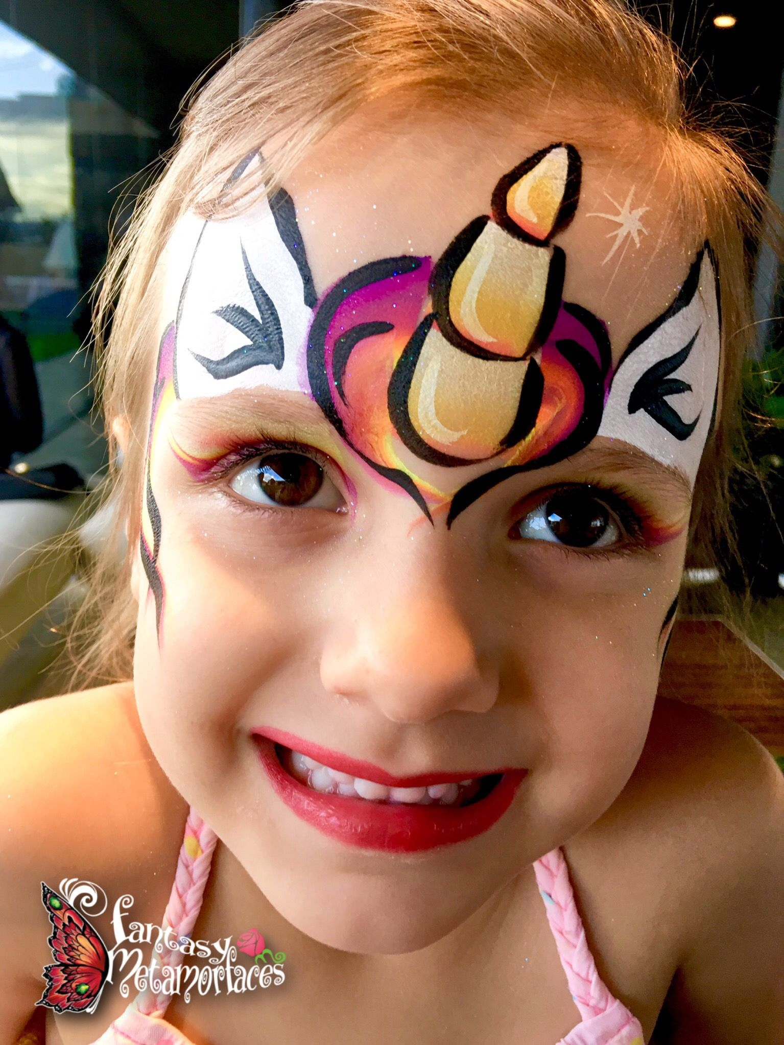 Simple Unicorn Face Paint : simple, unicorn, paint, Unicorn, Painting, Fantasy, Metamorfaces, Easy,, Painting,, Christmas