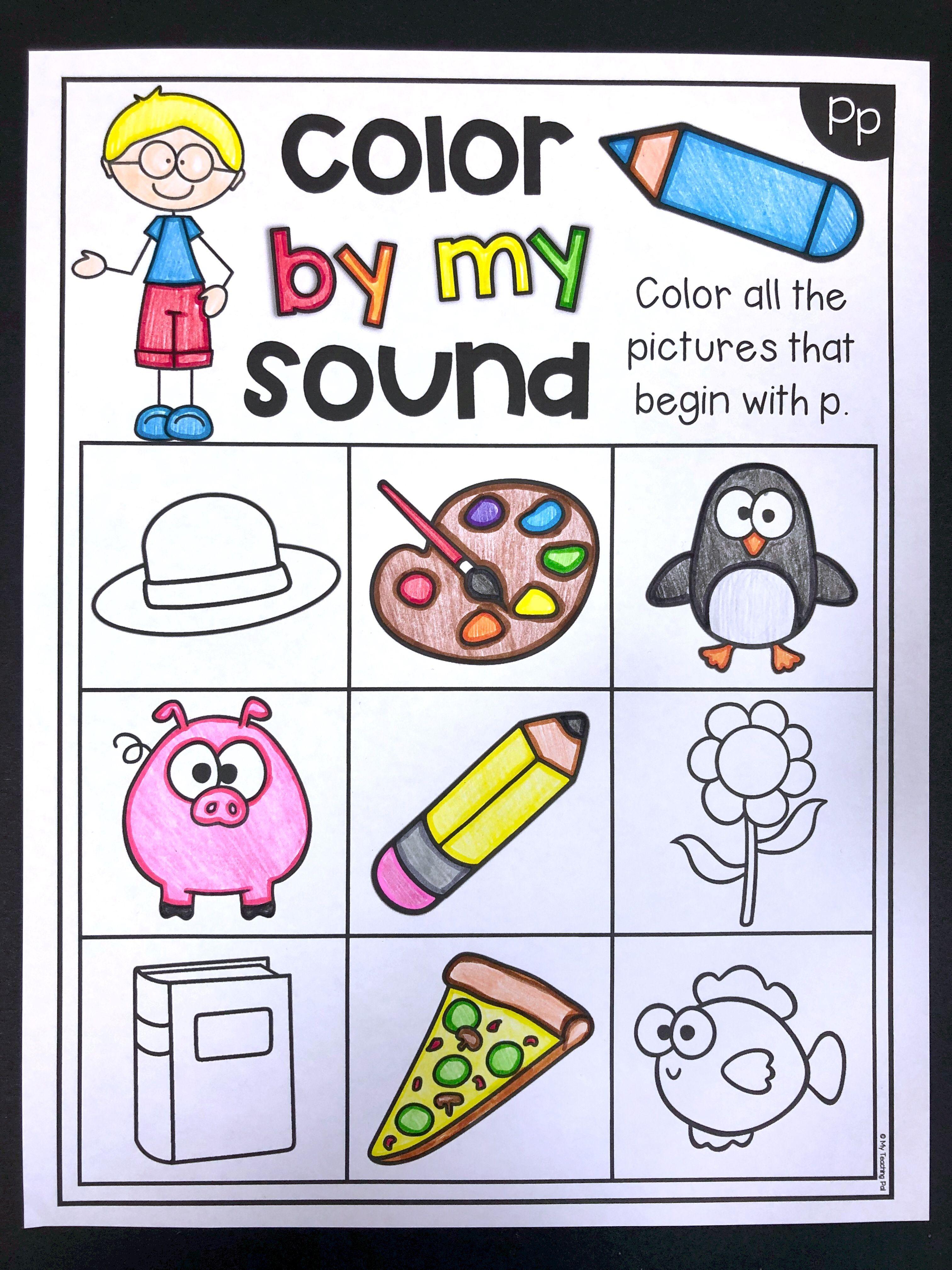 Beginning Sounds Worksheets Color By My Sound Distance Learning Beginning Sounds Worksheets Phonemic Awareness Kindergarten Beginning Sounds [ 4032 x 3024 Pixel ]