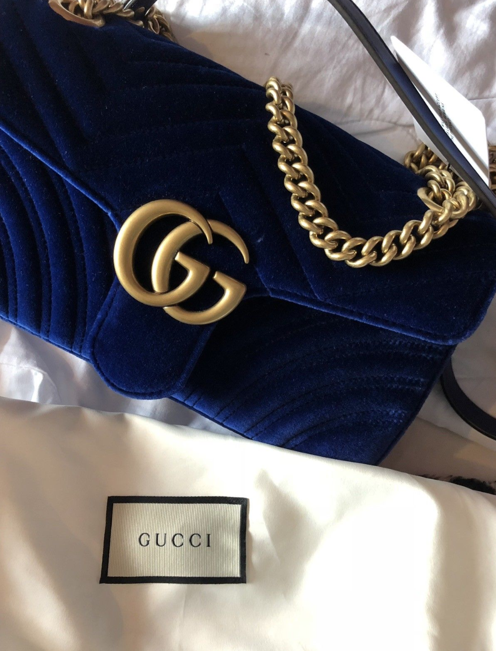 cac9a67adea9 Brand New Blue #Gucci Marmont Small Blue velvet Gucci Bag #marmont ...
