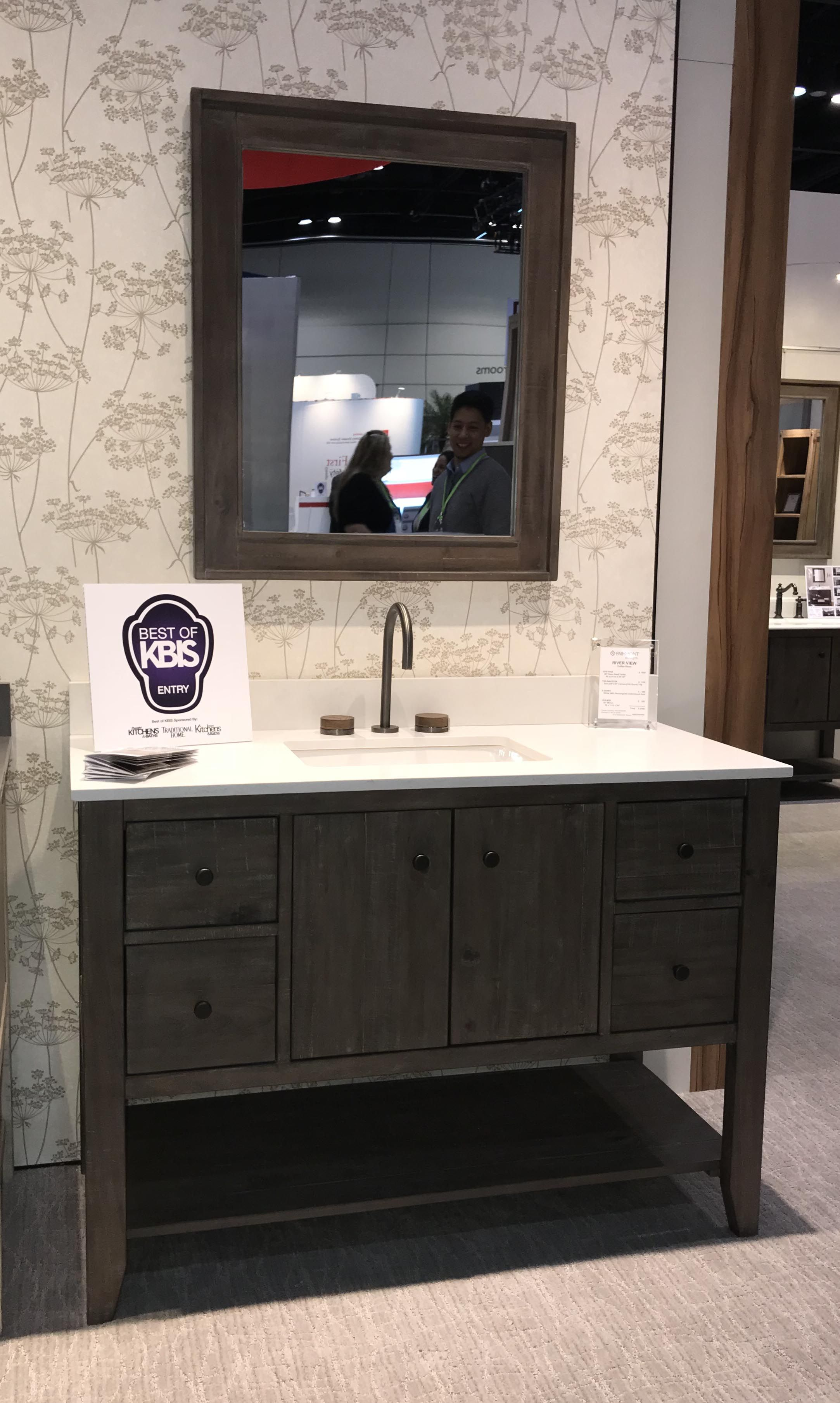 River View 48 Vanity Fdbath Kbis2018 Solidpine Transitional