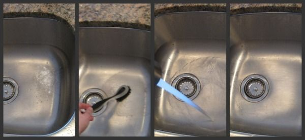 Removing Rust From Stainless Steel Sink Using Baking Soda How To