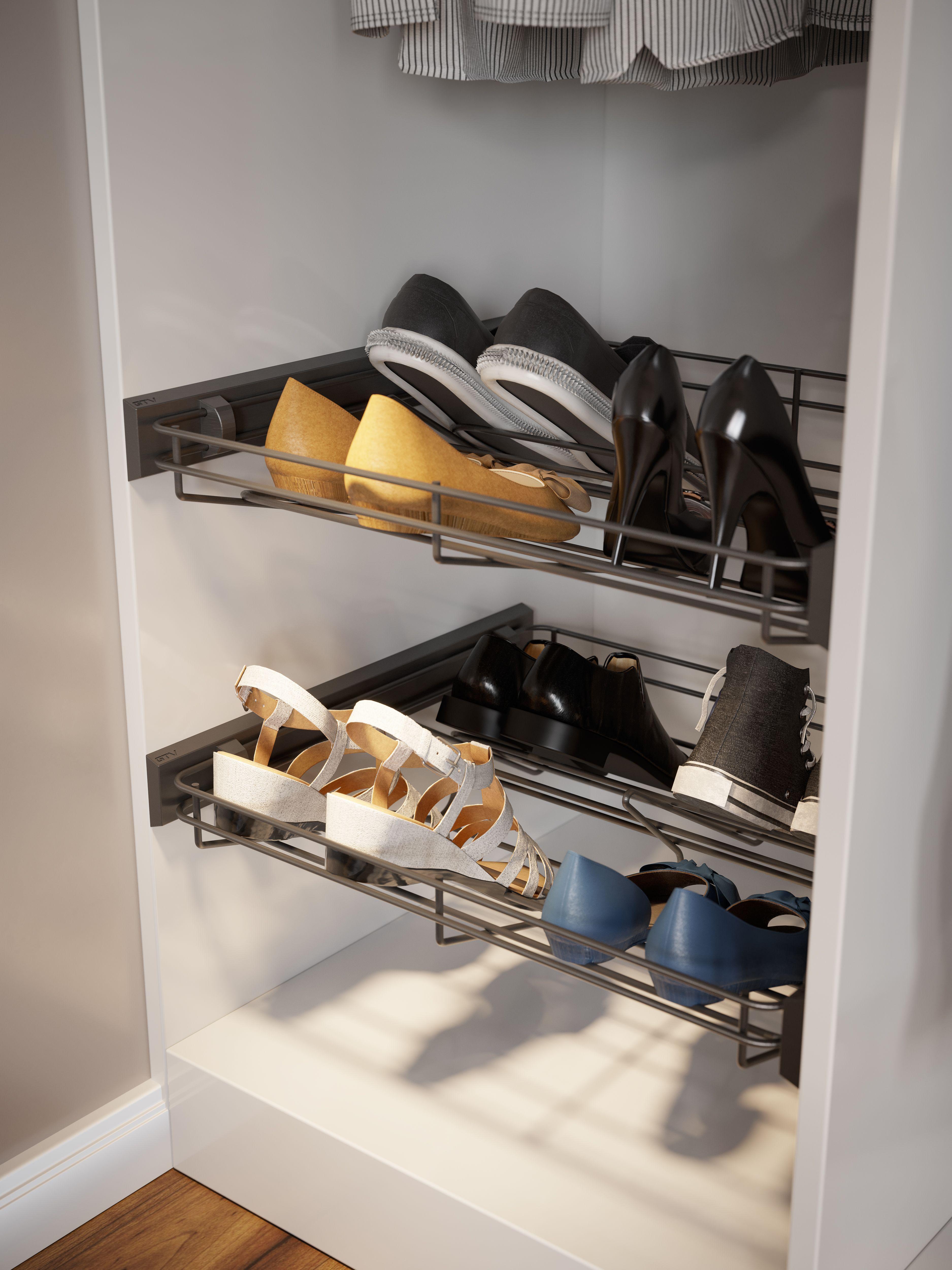 Szuflada Na Buty W Szafie Gtv Home Shoe Rack Hallway