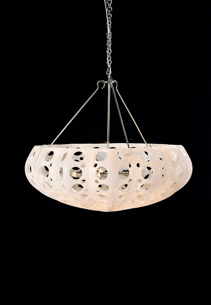 Discontinued Item Limited Stock Available 1 In Los Angeles Luna Bowl Chandelier Clear With Silver
