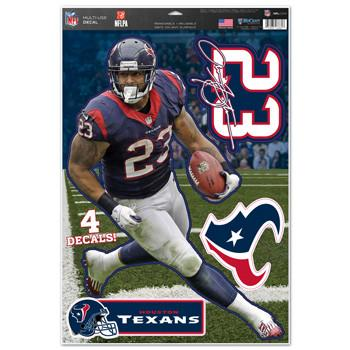 Houston Texans Arian Foster Decal 11x17 Multi Use