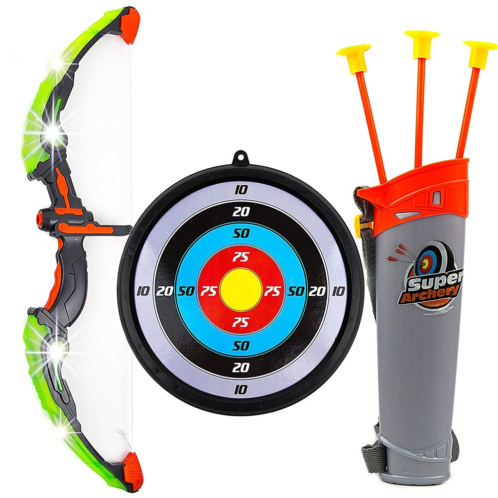 Toysery Bow And Arrow For Kids With Led Flash Lights Archery Bow With 6 Suction Cups Arrows Target And Quiver Practice Outdoor Toys For Children Above 3 12 Toy Bow And Check out our stand arrow selection for the very best in unique or custom, handmade pieces from well you're in luck, because here they come. toysery bow and arrow for kids with led