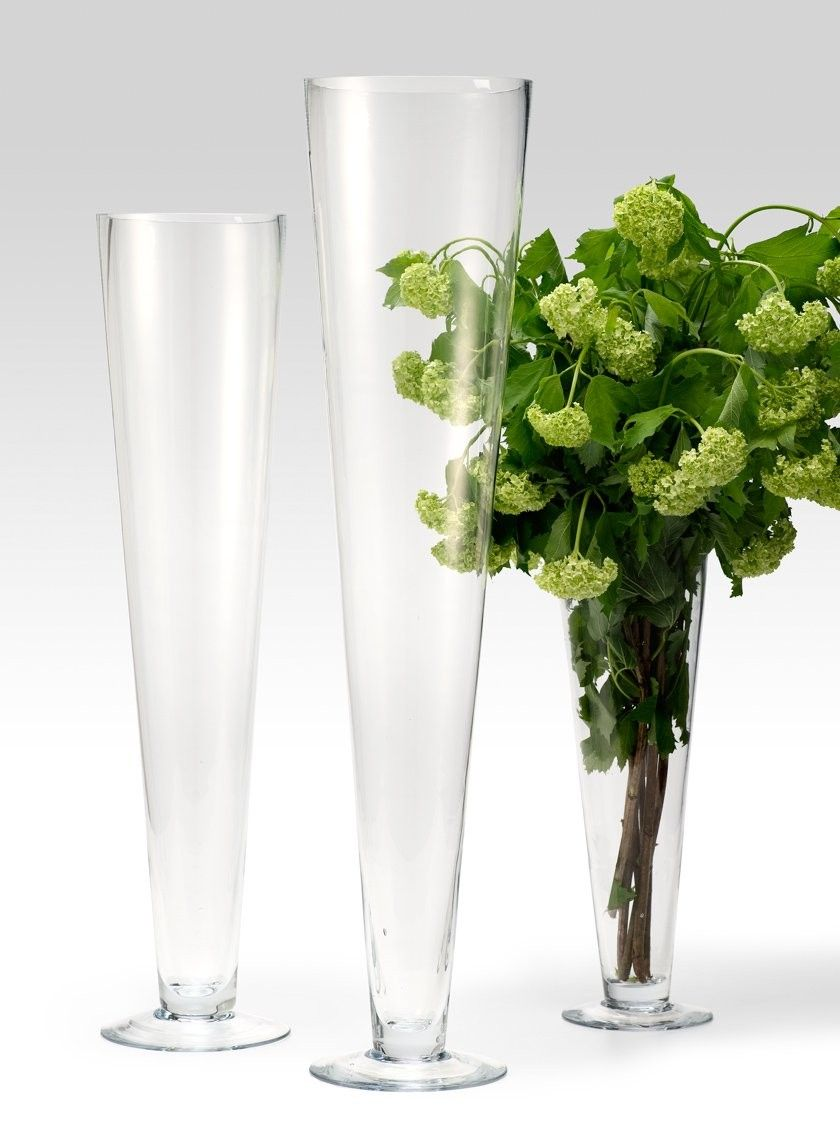 15in & 24in Glass Trumpet Vases | Pinterest | Trumpets, Floral ...