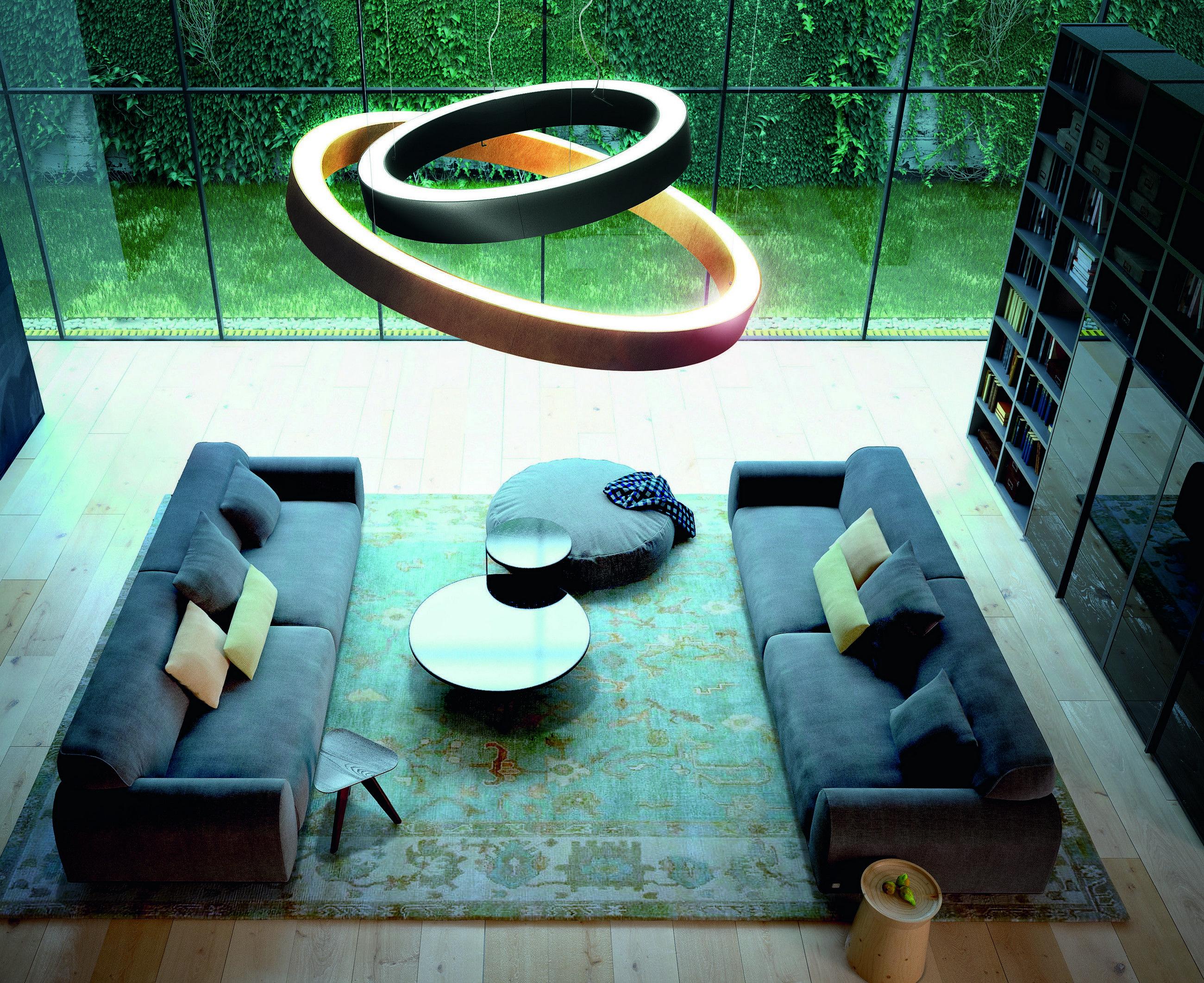 Golden Ring By Panzeri Hangelampe Modern Innenbeleuchtung Und Anhanger Lampen