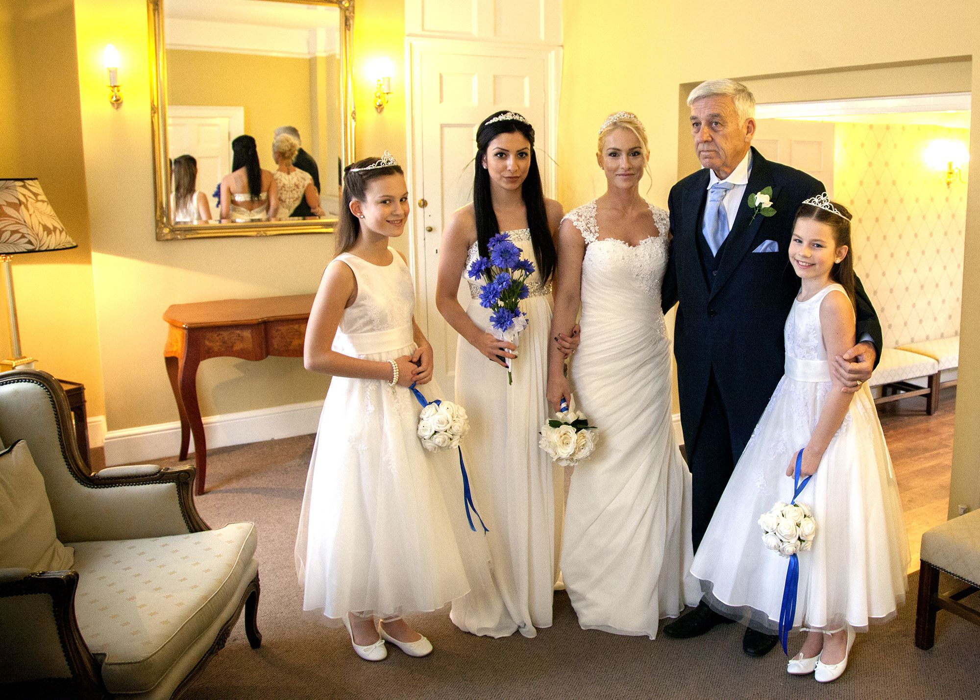 Bride And Her Bridesmaids At Canterbury