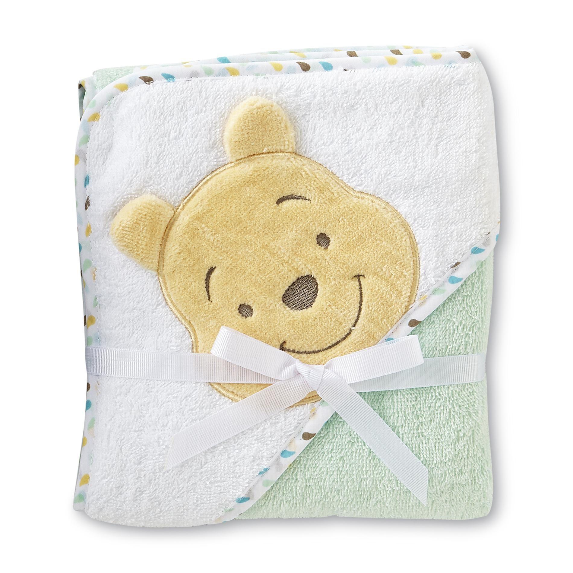 Cuddletime winnie the pooh infant boys hooded towel