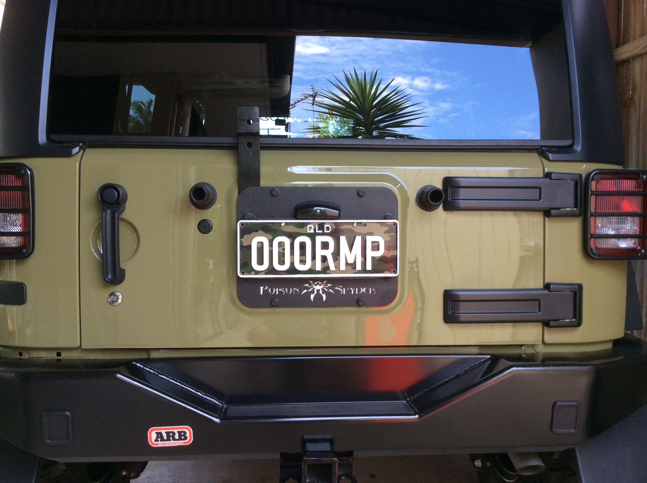 Poison Spyder Tramp Stamp Gas Grill Green Goblin Jeep Jk