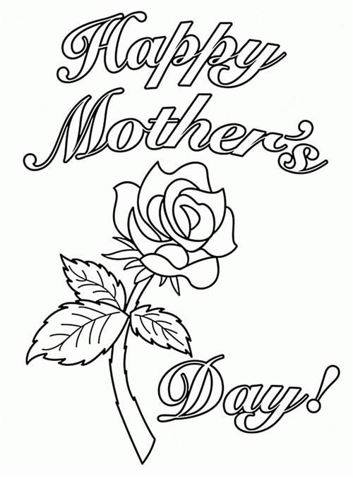 Happy Mothers Day Coloring Pages, Happy Mothers Day Drawing, Happy Mothers  Day Painting Sheets