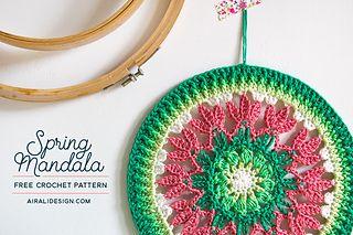 Ravelry: Spring mandala pattern by Ilaria Caliri (aka airali)