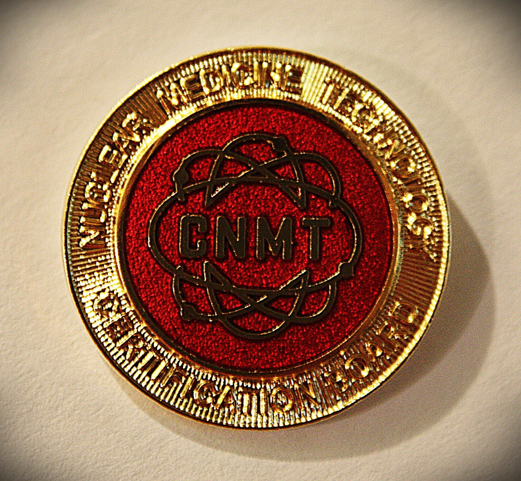 Cnmt Gold Pin Certified Nuclear Medicine Technologist Pin Included