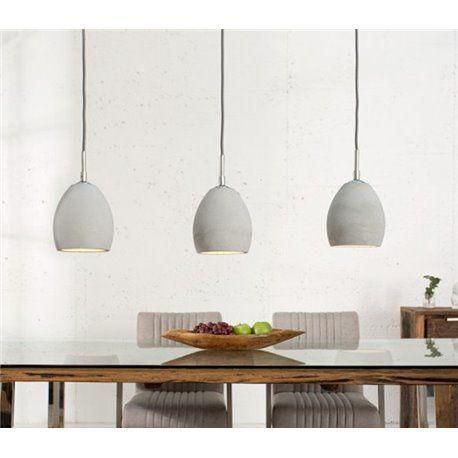 Designer Hängelampe Hängeleuchte ETNA II grau 3er Betonlampe - hängelampen für wohnzimmer