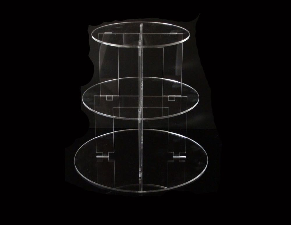 3 tier circle acrylic cupcake party wedding cake stand in