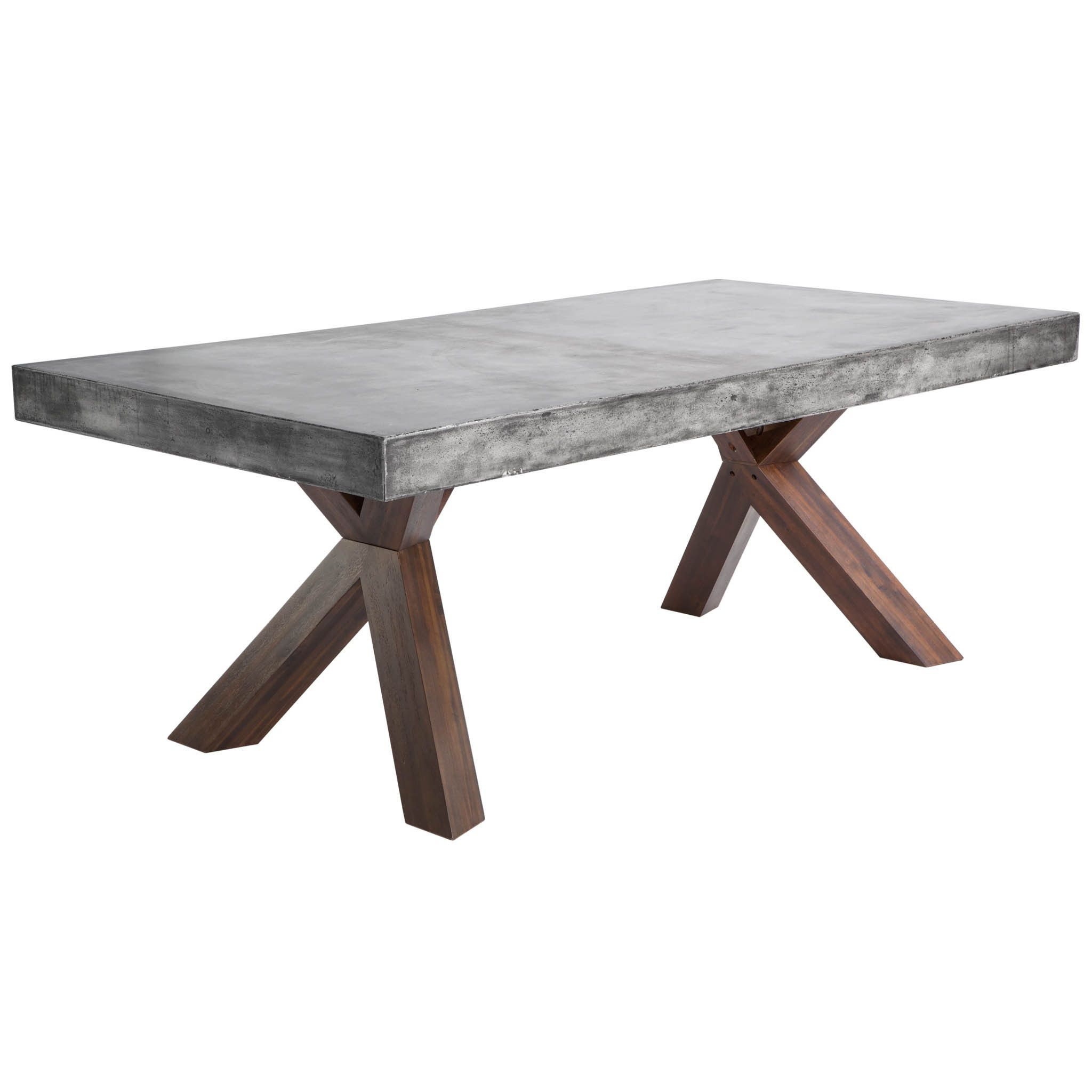This remarkable rectangular dining table features a 10 cm concrete
