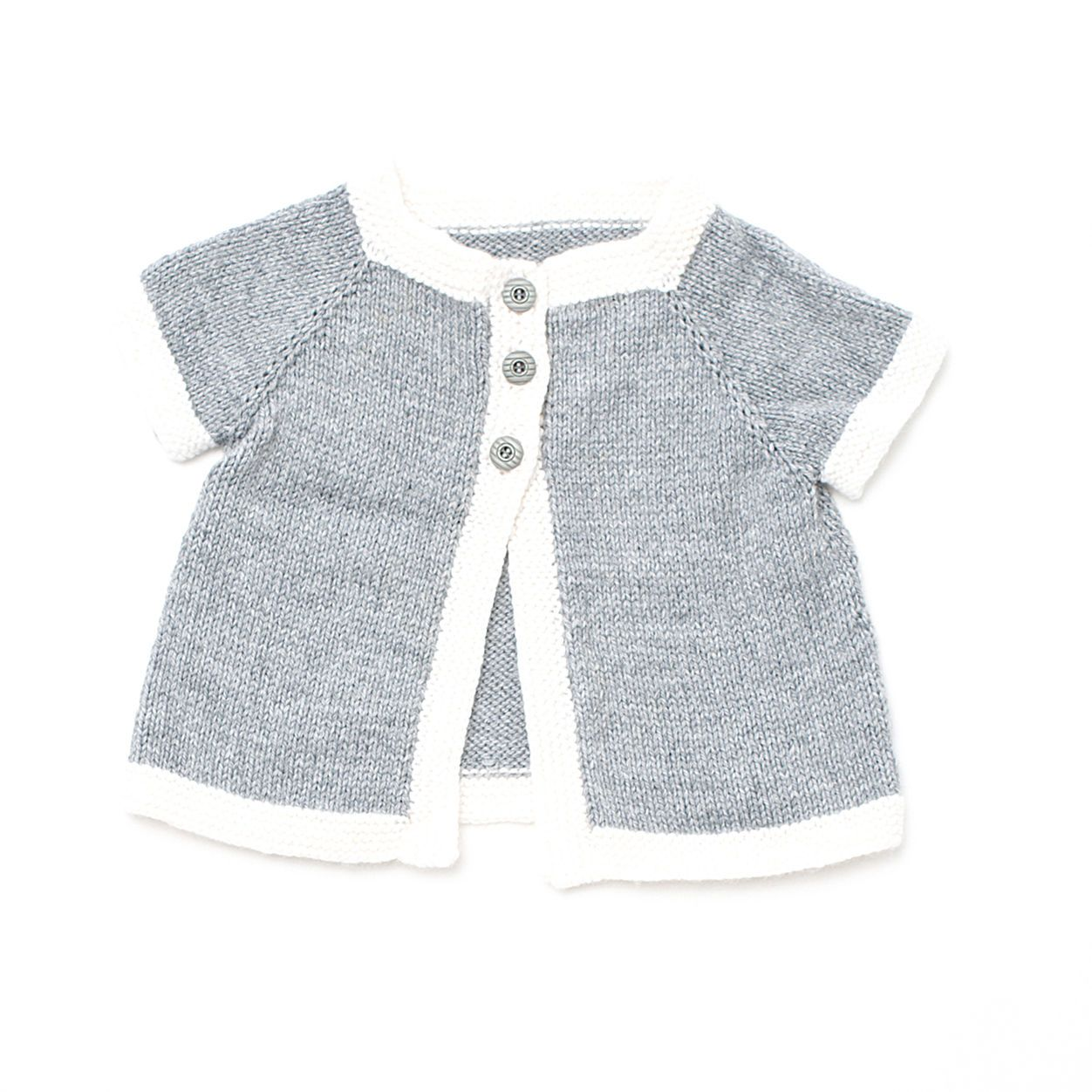 Bernat Top Down Cardigan, 6 mos   Baby sweater patterns ...