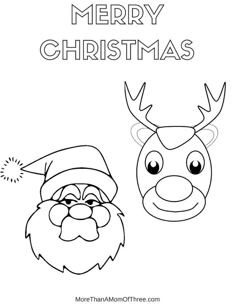 Free Printable Christmas Coloring Pages For Kids More Than A Mom Of Three Printable Christmas Coloring Pages Santa Coloring Pages Christmas Printables