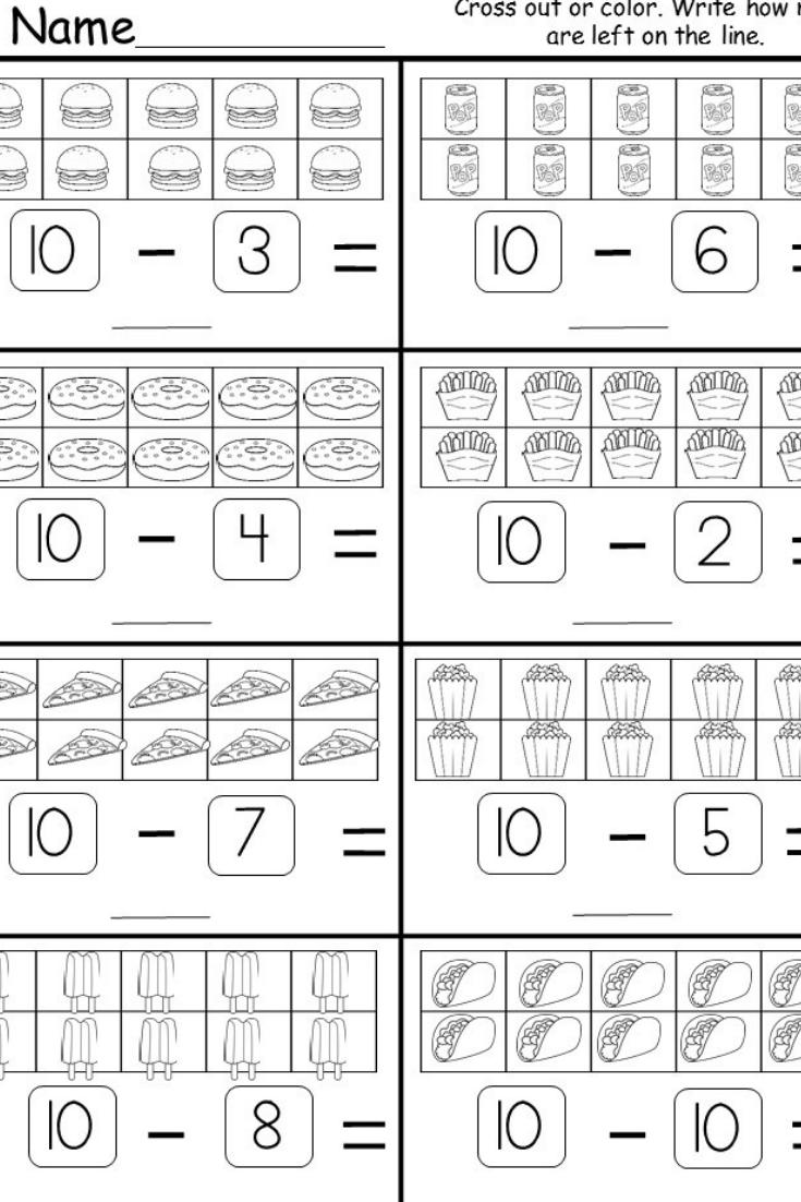 Free Kindergarten Subtraction Printable Matematica Atividades De Matematica Atividades [ 1102 x 735 Pixel ]