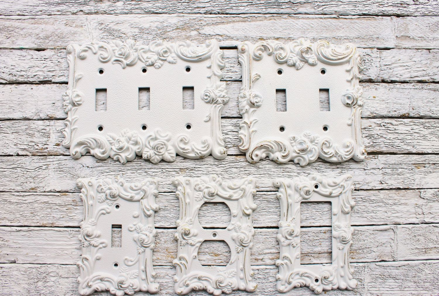 Decorative Plates, In Shabby White, Switch Cover ...