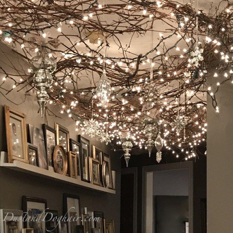 Magical Lighted Hallway For Christmas Christmas Ceiling
