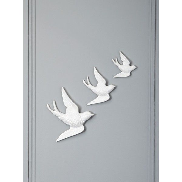 Linea White Ceramic Bird Wall Art 16 Cad Found On