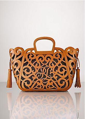 Ralph Lauren Monogram Tote Luxus Taschen Bag Tasche Taschen
