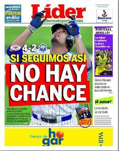 Si seguimos así no hay chance | #Magallanes quedó eliminado de la Serie del Caribe. La falta de tiempo atentó contra los campeones de la LVBP | Es nuestra portada del 07 de febrero