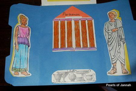 Ancient Greece Lapbook | da PearlsofJannah اللؤلؤ من الجنة