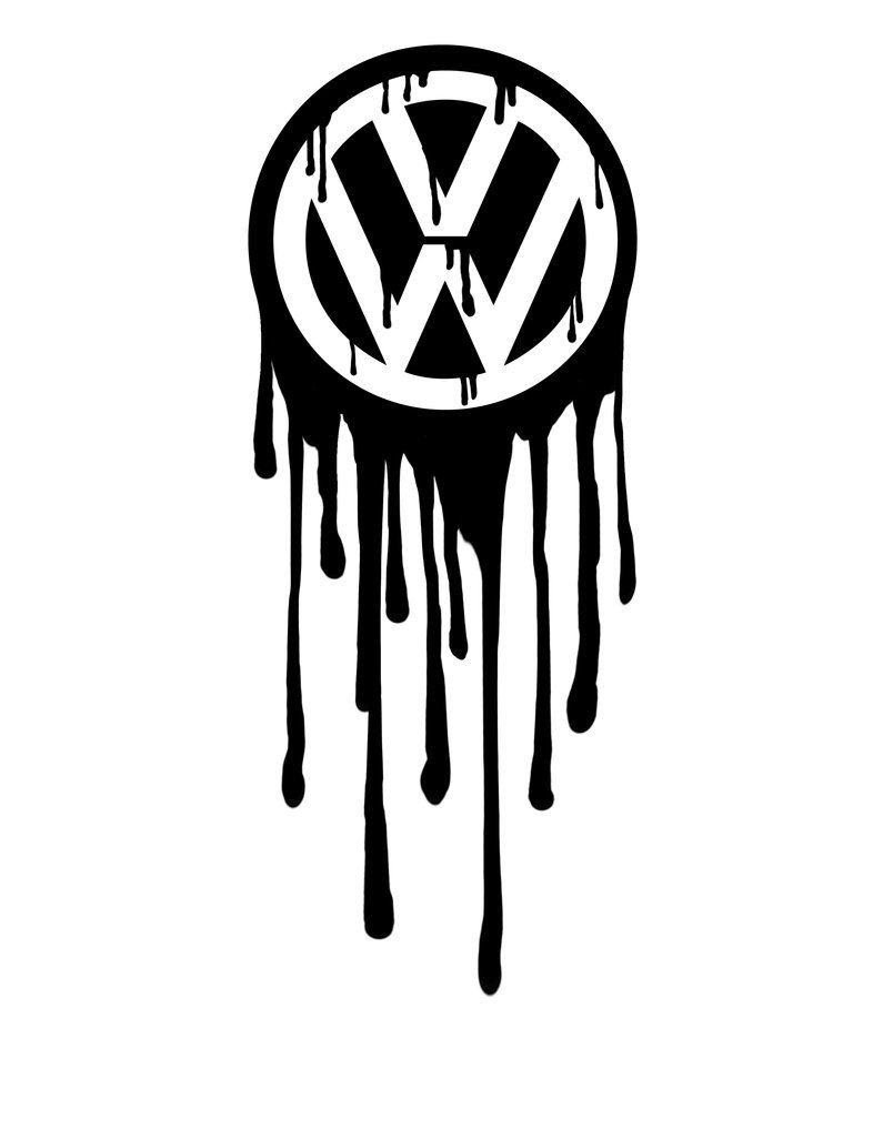 Volkswagen Logo Bleeding by greenbob1986 (tattoo idea