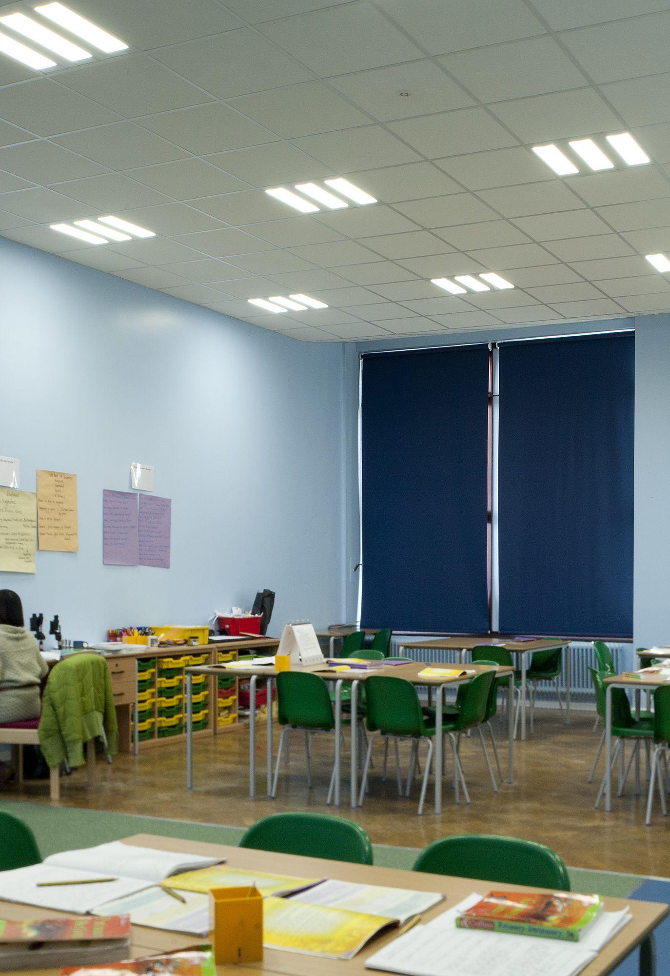 Junior School Classroom Lighting Using The Nova Led Ceiling Lighting Panels From Exled