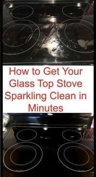How to Get Your Glass Stovetop Sparkling Clean in Minutes - MyThirtySpot #householdhacks