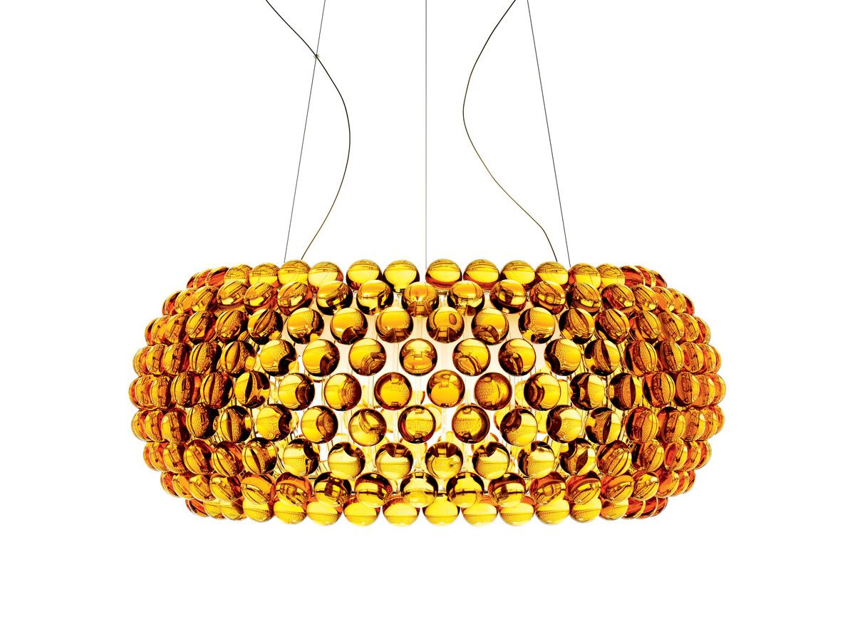 Lampe Caboche Patricia Urquiola foscarini caboche suspension light gold | pendant light