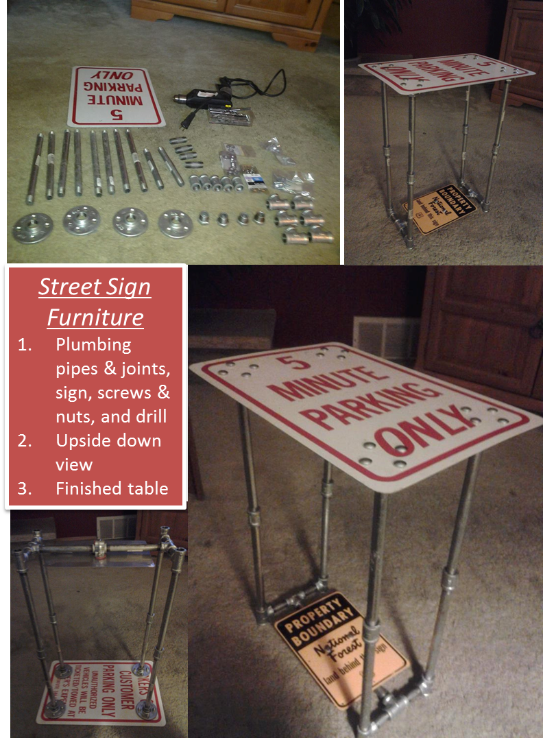 Street Sign Table I Made This For My Husband To Put Next