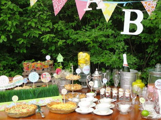 "Photo 7 of 25: Shabby Chic/ Bird Nature / Baby Shower/Sip & See ""Baby Shower Brunch"" 