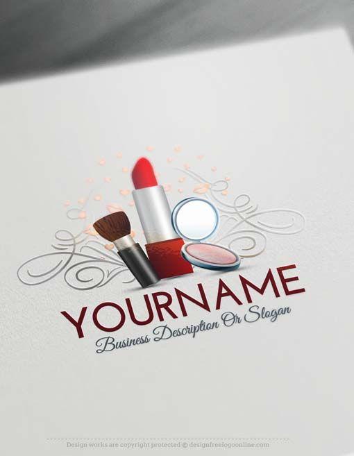 Free logo creator makeup artist logo design makeup for How to make logo online