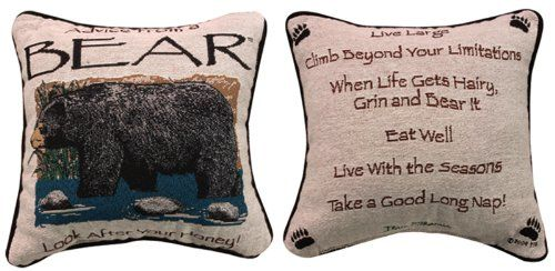 """Advice from a Bear"" Decorative Throw Pillow 12.5"" x 12.5"" Manual Weavers,http://www.amazon.com/dp/B00A0YD3MI/ref=cm_sw_r_pi_dp_1pvzsb0DYT11M6EC"