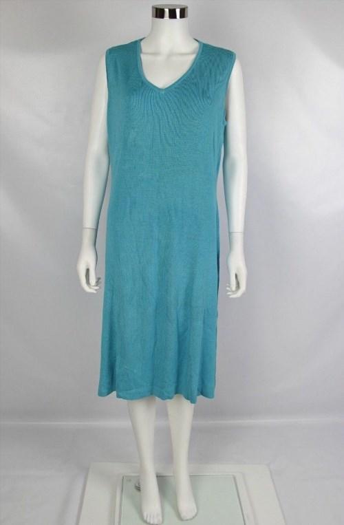 39.55$  Buy here - http://vifyy.justgood.pw/vig/item.php?t=n1zv8p30999 - NWT Diane Von Furstenberg Silk Assets Womens Large Light Blue Sleeveless Dress 39.55$