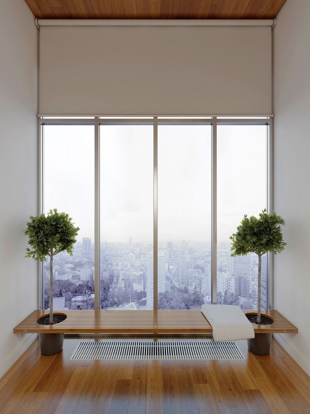 Home Apartment Large Glass Window With City Views With Indoor