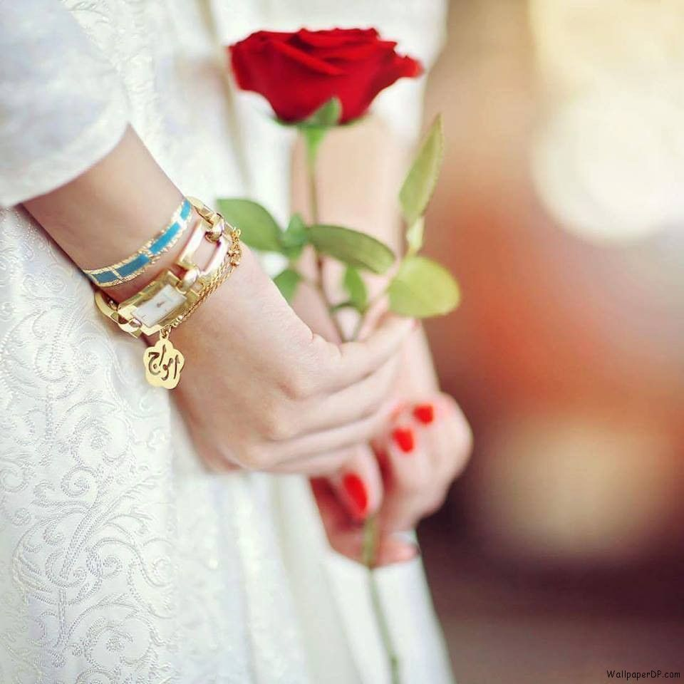 Image For Super Cute Hands With A Rose Unseen Dp Pic For Fb Girls Fb Girls Beautiful Girl Image Girls Image