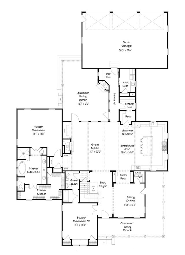 Fowler Cottage Colonial House Plans Southern Living House Plans Floor Plans