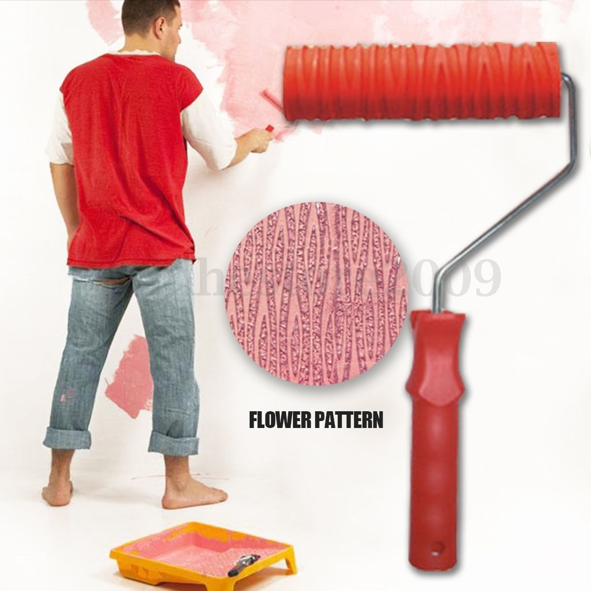 7 Embossing Tree Paint Roller Painting Brush With Handle Wall Decor Tool No 024 Painting Patterns Paint Roller