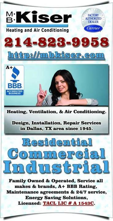 M B Kiser Is The Oldest Heating And Air Conditioning Contractor