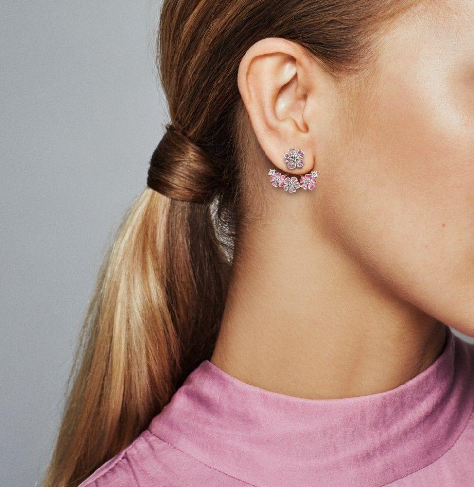 Peach Blossom Flowers Earrings | Pandora earrings, Pandora ...