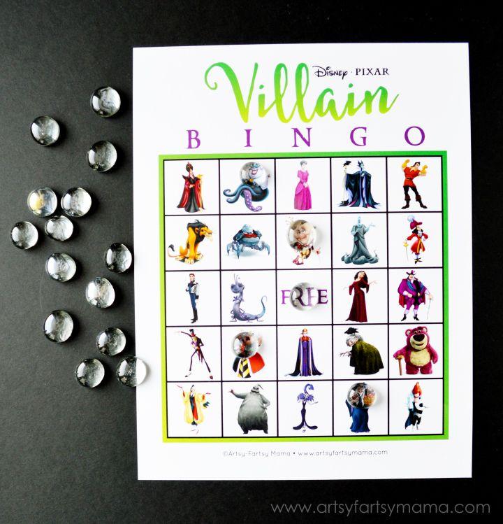 Free Printable Disney Villain Bingo