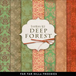 Freebies Vintage Style Paper Kit - Deep Forest - Far Far Hill