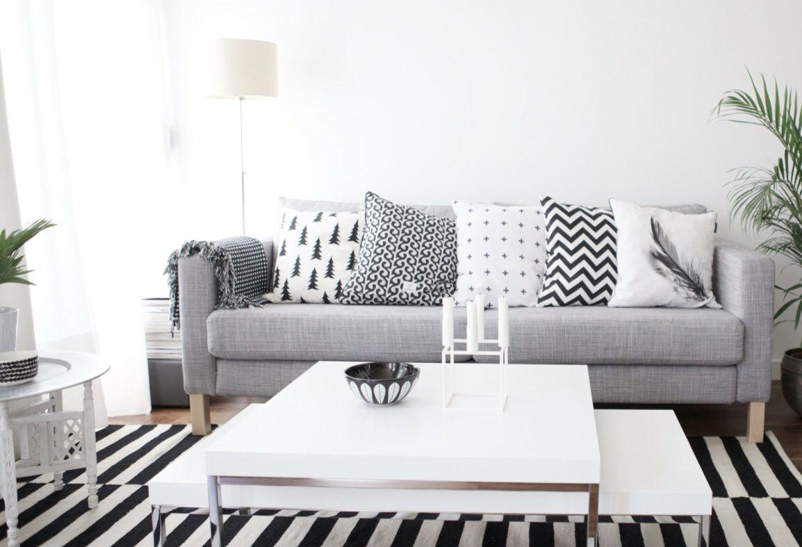 karlstad chair cover isunda gray pool lounge chairs walmart grå grey sofa soffa ikea vardagsrum